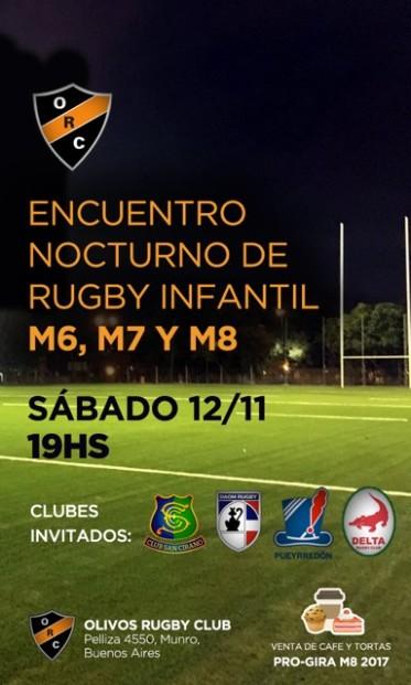 ENCUENTRO NOCTURNO DE RUGBY INFANTIL