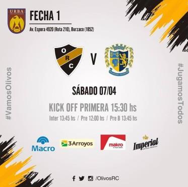 #RUGBY (kick off) PRIMERA FECHA vs San Albano (7/4/18)