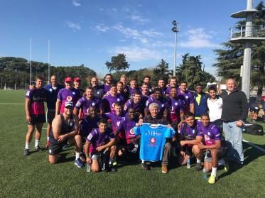 #SuperRugby Blue Bulls entrenando en Olivos Rugby Club