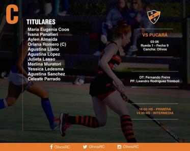 """#HOCKEY Linea """"C"""" FORMACIÓN Y HORARIOS (vs PUCARA)"""