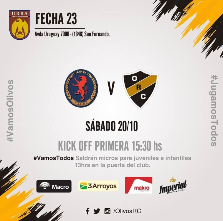 #RUGBY PREVIA vs BACRC (20/10/18)