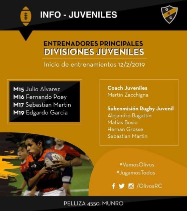 #RUGBYJUVENILES INFO