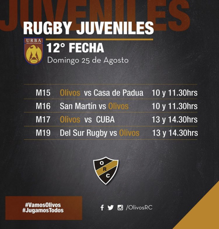 #RUGBYJUVENILES 25/8