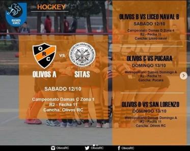 #HOCKEY ACTIVIDAD FIN DE SEMANA LARGO 12,13Y14/10/2019