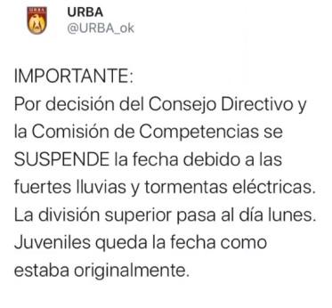 #RUGBY IMPORTANTE (SUSPENSIÓN Y CAMBIO DE ACTIVIDADES)