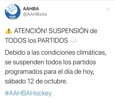 #HOCKEY IMPORTANTE (SUSPENSIÓN DE ACTIVIDADES)