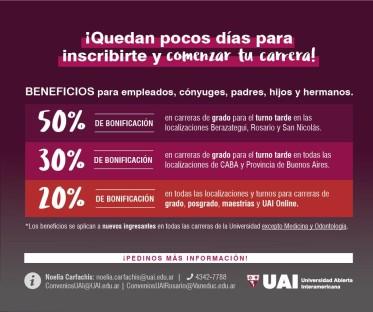#UAI Inscribite!