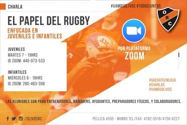 "Charla ""el papel del rugby"""
